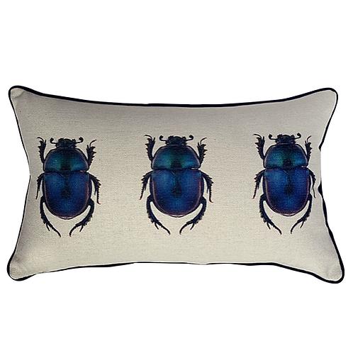 Copia de Cojín con Escarabajo Azul (Chico)
