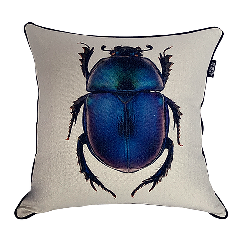 Cojín con Escarabajo Azul