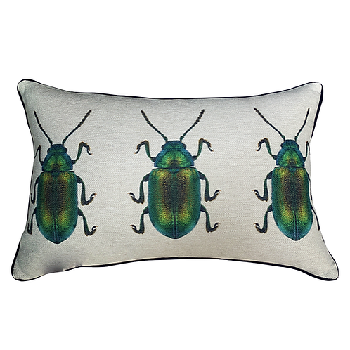 Copia de Cojín con Escarabajo Verde (Chico)