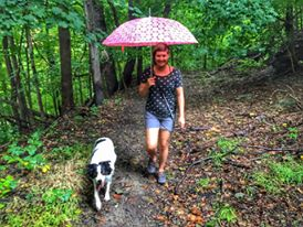 Rainy Day Hike on the trails.