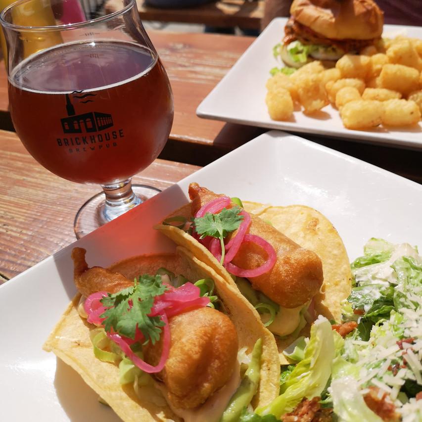 Fish Tacos & a pint