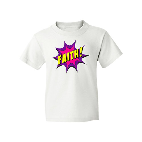Faith Superhero Girls White T-Shirt