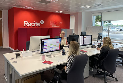 People working in the Recite Me office