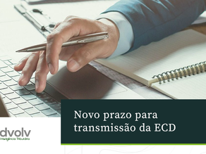 Novo prazo para transmissão do ECD