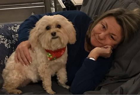 Becky Verkerk and dog