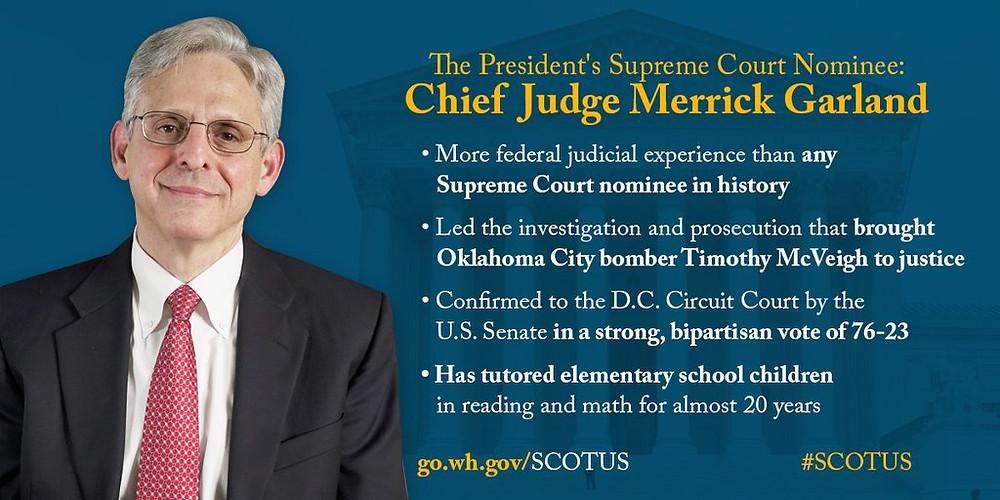 Garland Nominated to Supreme Court