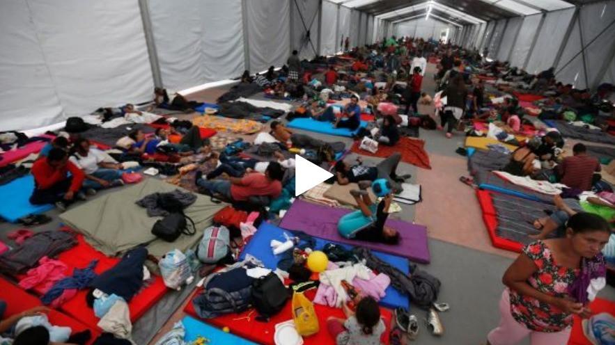 Immigration Caravan in Mexico City