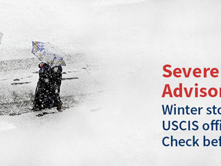 Some USCIS Offices Will be Closed Today Due to The Weather