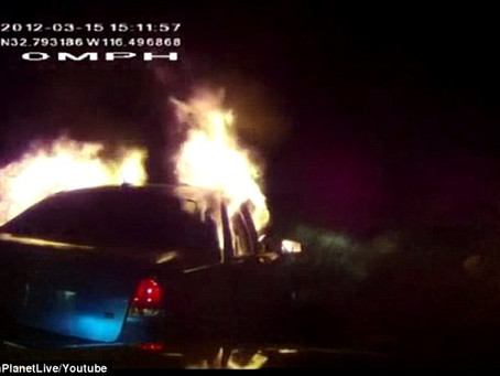 25-year-old man burned to death when border patrol Tasered him and his car burst into flames