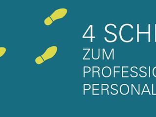 Whitepaper: 4 Schritte zum professionellen Personalwesen.