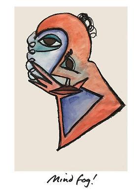 abstract visual art by vivienne boucherat, titled mind fog!