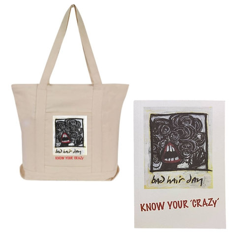 Know Your Crazy Tote Bag and Book Bundle