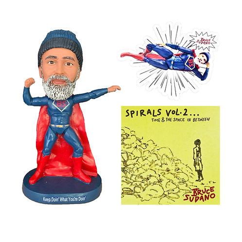 Super Bruce CD, Bobblehead, & Magnet Bundle