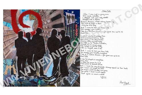New York Lyric Sheet