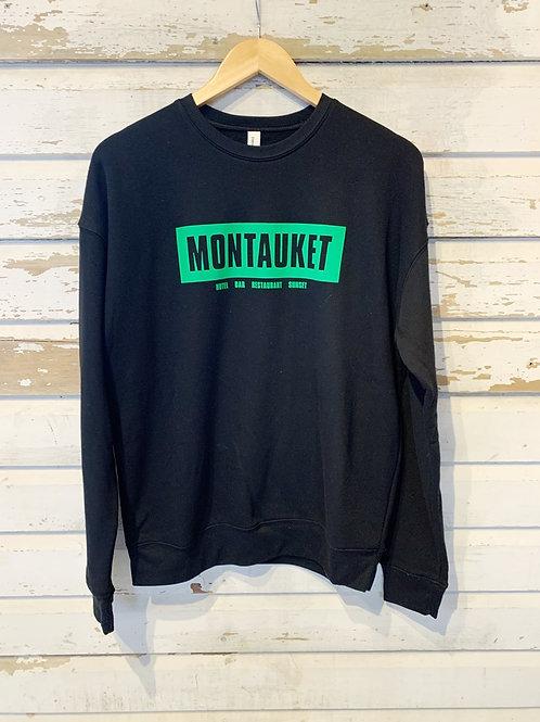 Montauket Crew Neck Sweatshirt [Black/Lime]