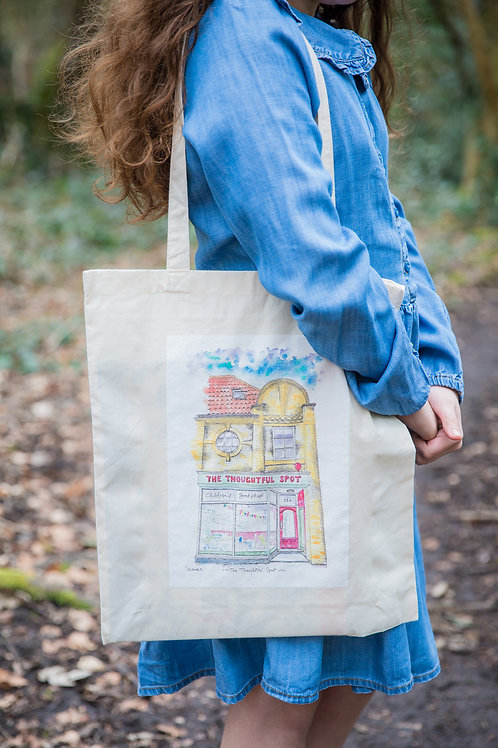 Tote Bag: The Thoughtful Spot shop front Artwork