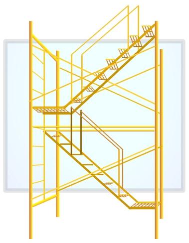 Torre estándar con escalera CED. 30