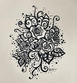 Tonight's Drawing_ Six Roses hand-drawn