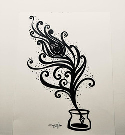 "Tonight's Drawing_ ""Quill"" pen and ink d"