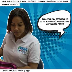 Dioscarina Díaz, Prom. 2019