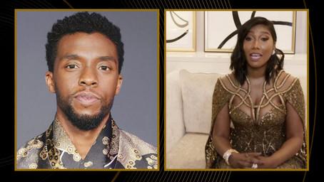 Chadwick Boseman's Wife, Simone Ledward Boseman, Tearfully Accepts His Posthumous Golden Globe