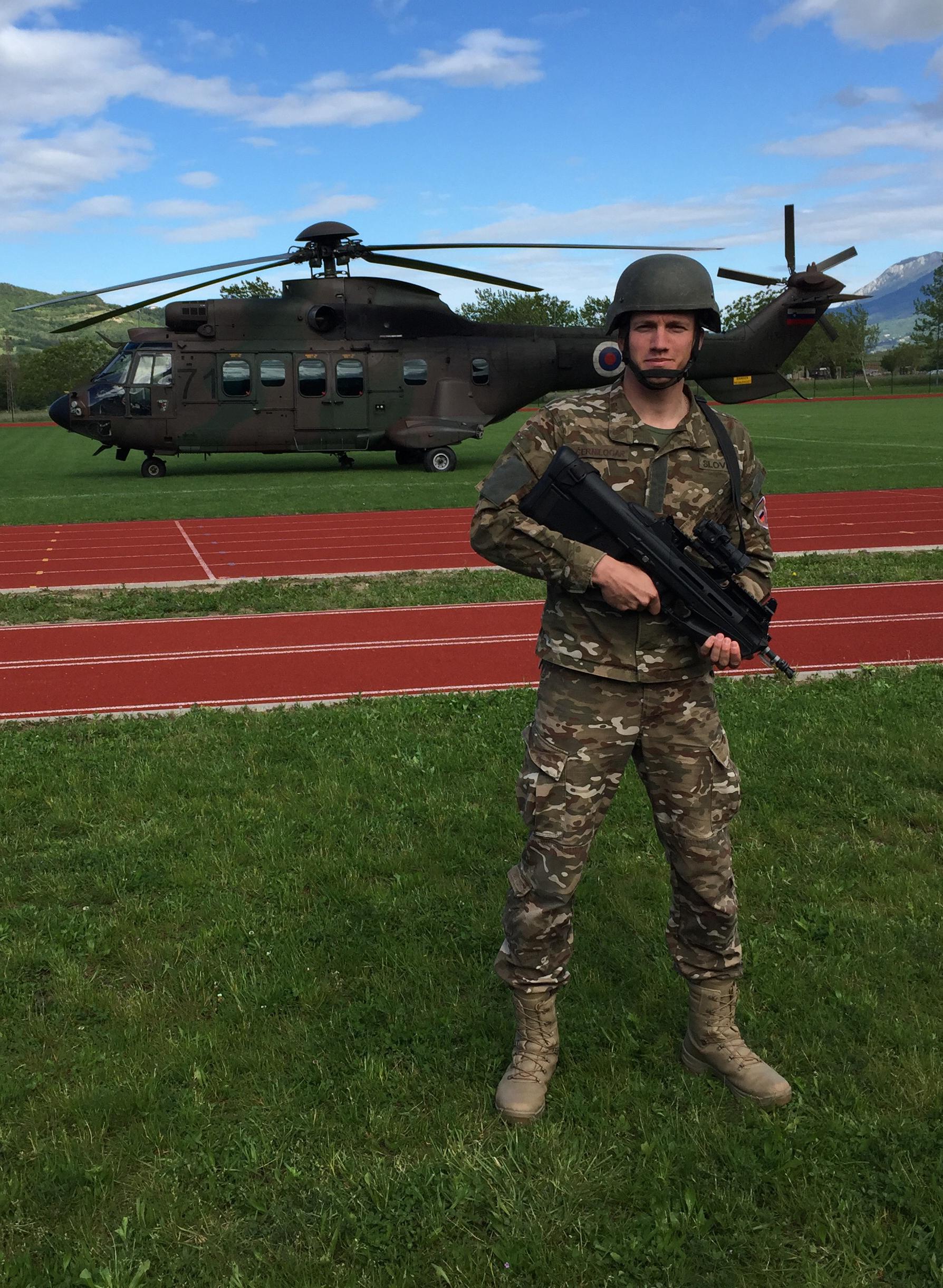 Andrei Lenart Slovenian Armed Forces