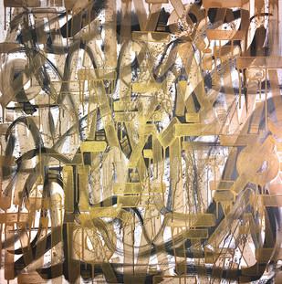 Love Like Gold 36x36in