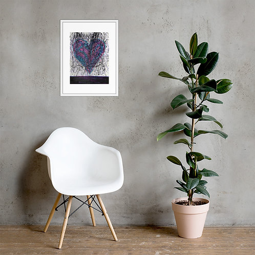 Heart Strings Framed Poster Print
