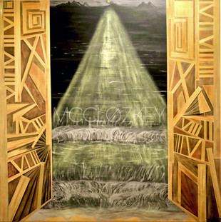 """""""The Gates of Heaven"""" 36x36in"""