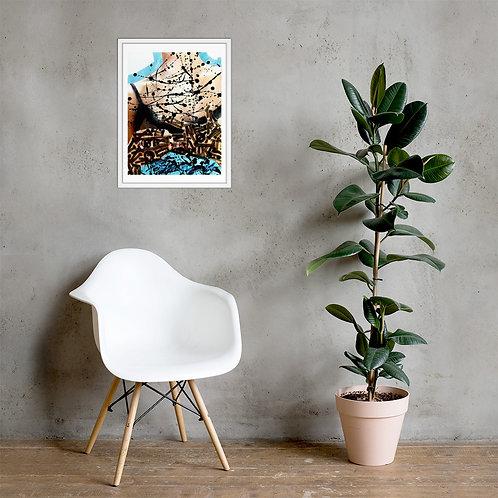 Middle Finger Framed Poster Print