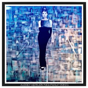 """Audrey Hepburn """"NightWalk"""" Prints 13x13in"""