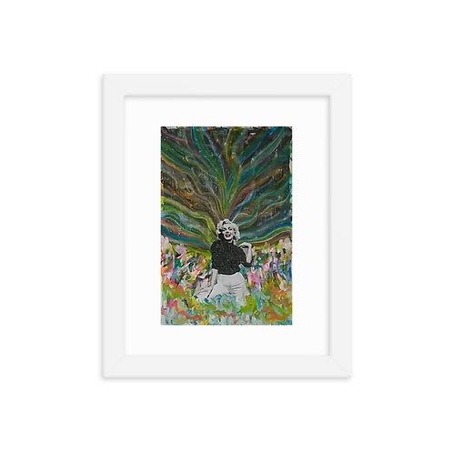 The Golden Gardens (ft. Marilyn Monroe) Framed Poster Print
