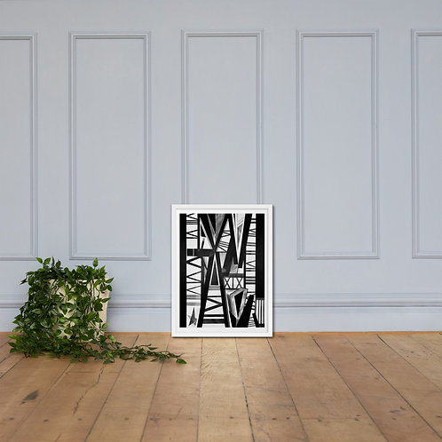 To Love and To Escape Hate Framed Poster Print