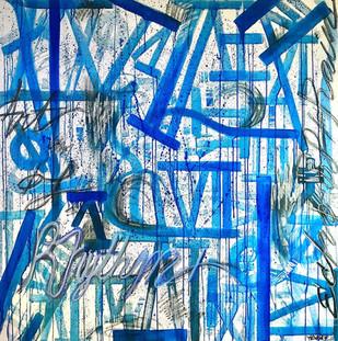 """""""Art of Rhythm, Echo of Rain"""" 48x48in"""