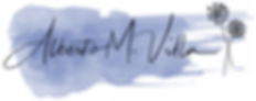 firma con fondo azul albertomvilla sin d