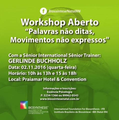 Workshop com Gerlinde Buchholz: Inscreva-se!