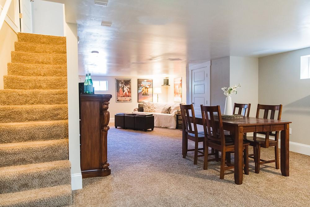Updated tacoma craftsman basement