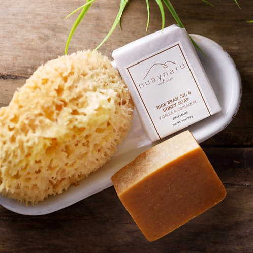 rice bran oil and honey soap