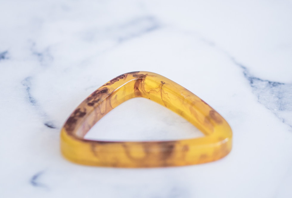 Triangle Bangle Marble Gold