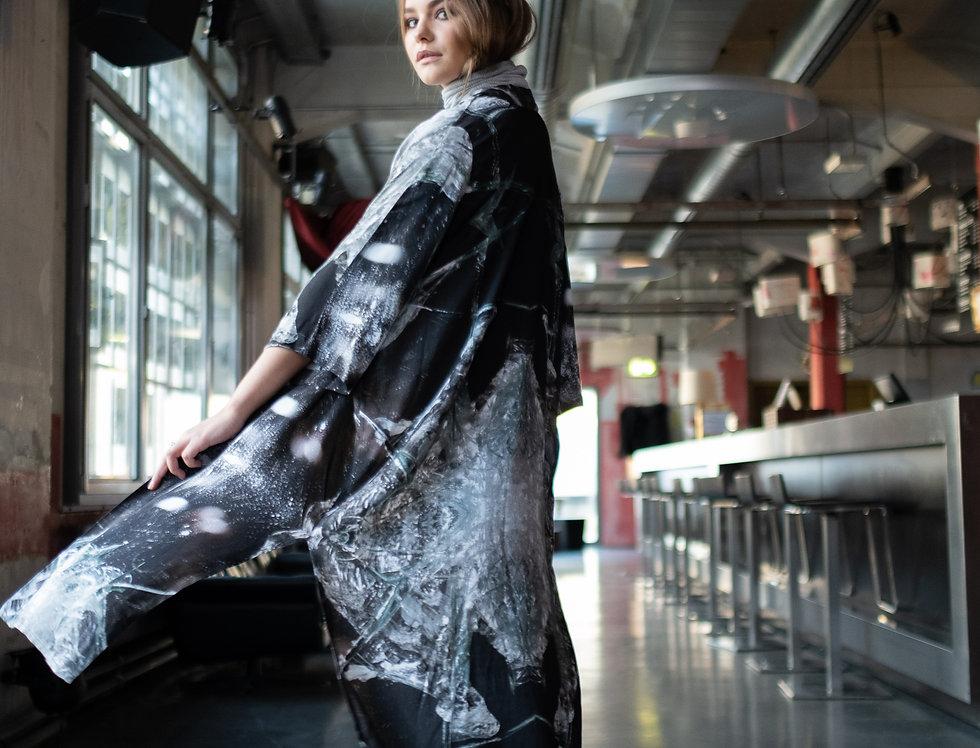 Dark Print Kimono