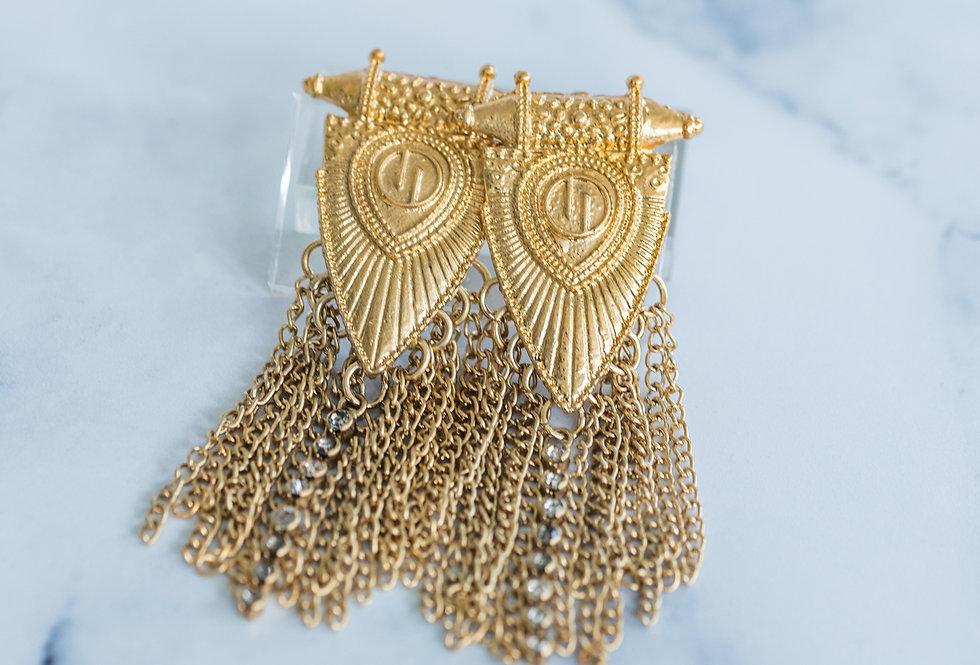 Aztec Earring Gold