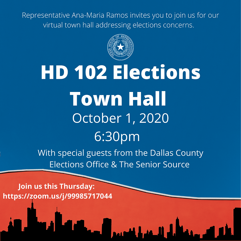 HD 102 Elections Town Hall