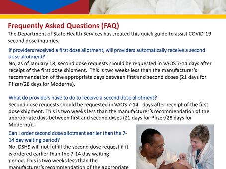 COVID-19 Vaccine Information - Second Dose