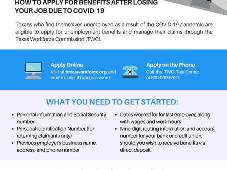 GUIDE TO APPLYING FOR UNEMPLOYMENT BENEFITS DUE TO COVID-19