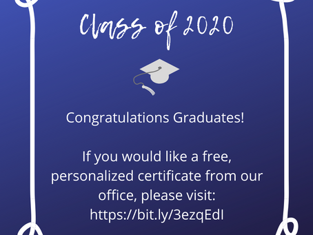 FREE Certificates for the Graduating Class of 2020