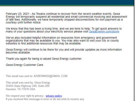 Gexa Energy Announcement