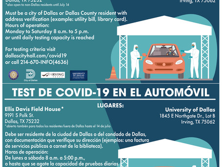 Latest Dallas COVID-19 Drive-Thru Testing Sites