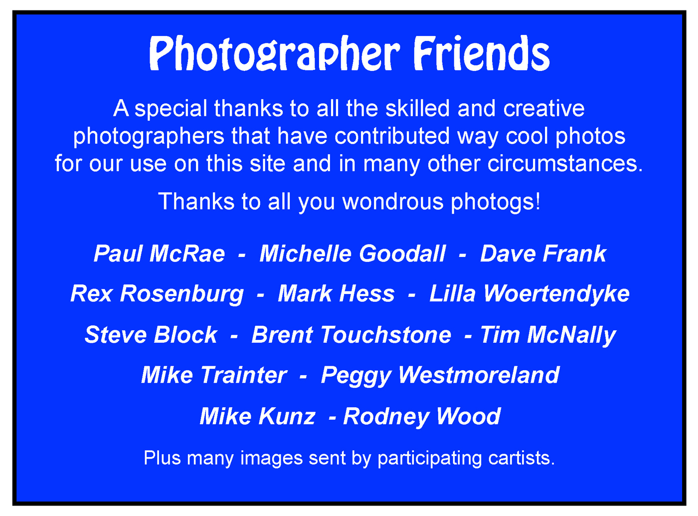 Photographer Friends of ArtoCade