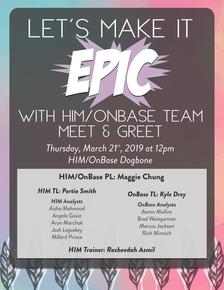 HIM ONBASE Team Meet & Greet