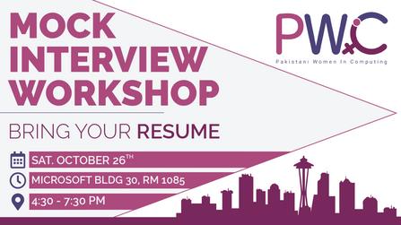 Facebook Event Page Banner for PWIC Mock Interview Workshop